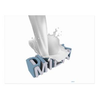 Drink Milk! 3D Postcard