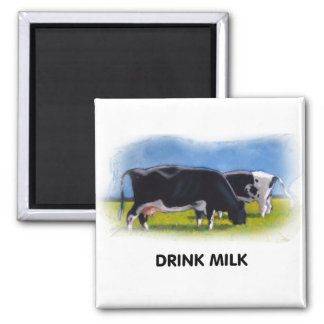 DRINK MILK COWS ARTWORK MAGNET