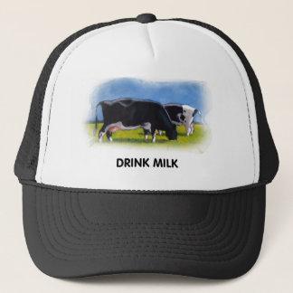 DRINK MILK COWS ARTWORK TRUCKER HAT