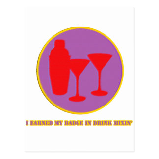 Drink Mixin Merit Badge Postcard