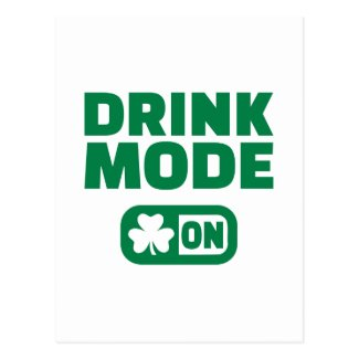 Drink mode on St. Patrick's day Post Cards
