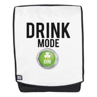 Drink Mode St. Patrick's Day Shamrocks Backpack