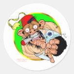 Drink Monkey Classic Round Sticker