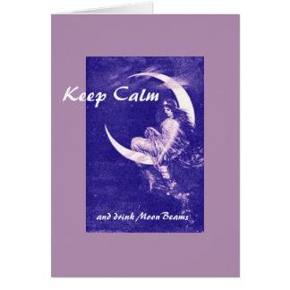 Drink MoonBeams purple, blank inside Card