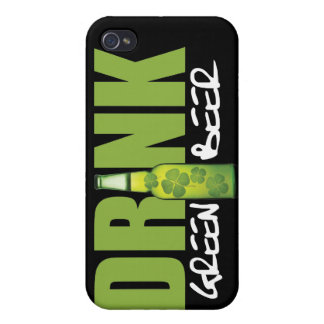 Drink More Irish Green Beer iPhone 4 Cover
