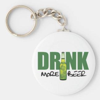 Drink More Irish Green Beer Keychain