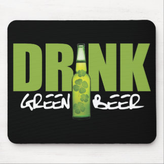 Drink More Irish Green Beer Mouse Pad