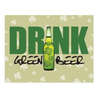 Drink More Irish Green Beer Postcard