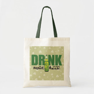 Drink More Irish Green Beer Tote Bag