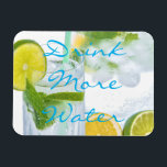 "Drink More Water Magnet<br><div class=""desc"">Remind yourself to stay hydrated with this elegant design. 