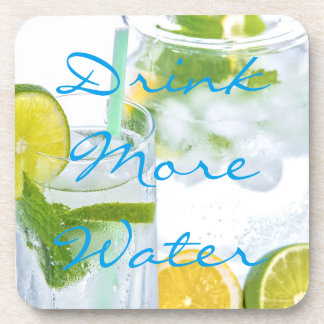Drink more water || Mineral water with lime & mint Coaster