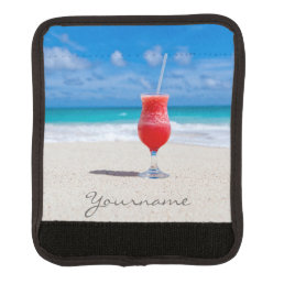 Drink On Beach custom luggage handle wrap