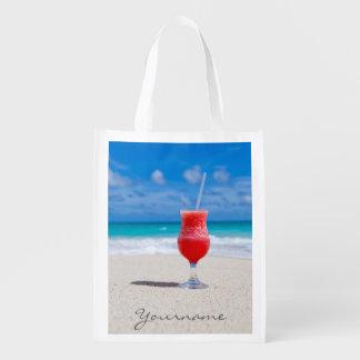 Drink On Beach custom reusable bag