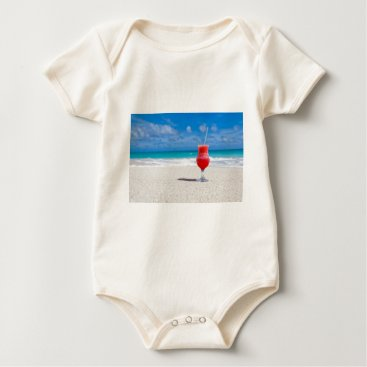 Beach Themed Drink on the Beach Baby Bodysuit