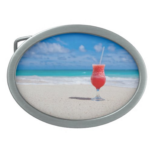 Drink on the Beach Belt Buckles