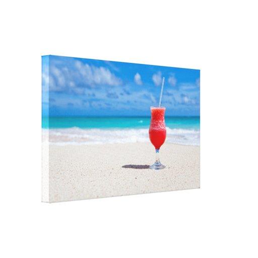 Drink on the Beach Canvas Print