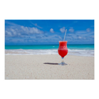 Drink on the Beach Posters
