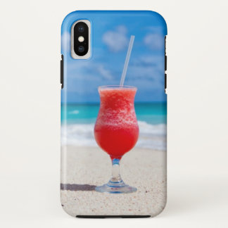 Drink on Tropical Beach iPhone X Case
