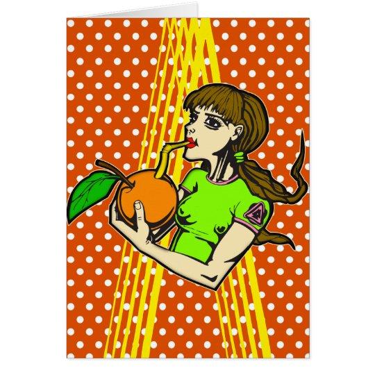 Drink Orange Juice Card