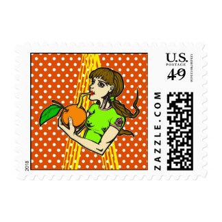 Drink Orange Juice Postage Stamp