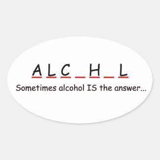 drink oval sticker