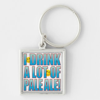 Drink Pale Ale Life B Silver-Colored Square Keychain