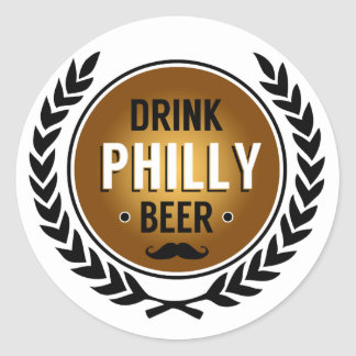 Drink Philly Beer Round Sticker