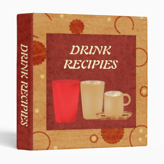 Drink Recipies binder