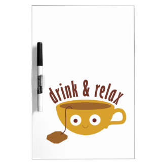 Drink & Relax Dry-Erase Whiteboards