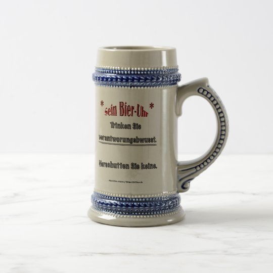 Drink Responsibly, Deutsch. (Mug) Beer Stein