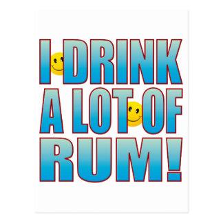 Drink Rum Life B Postcard