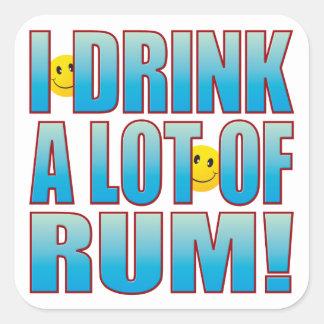 Drink Rum Life B Square Sticker