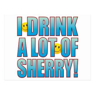 Drink Sherry Life B Postcard