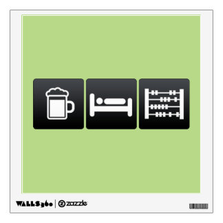 Drink, Sleep and Abacuses Wall Decor