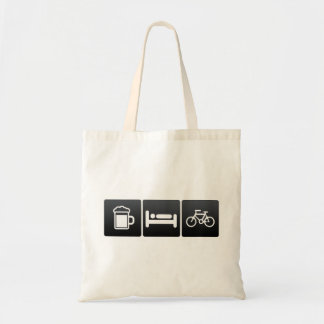 Drink, Sleep and Bicycle Riders Tote Bag