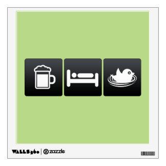 Drink, Sleep and Bird Nests Room Stickers