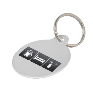 Drink, Sleep and Birthday Candles Pet Tag
