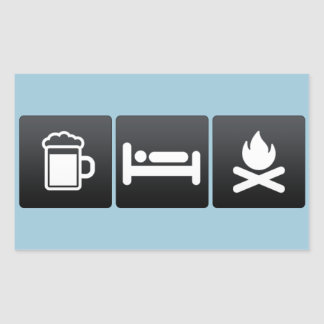 Drink, Sleep and Bonfires Rectangular Sticker
