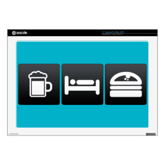 """Drink, Sleep and Burger Buns Decals For 17"""" Laptops"""