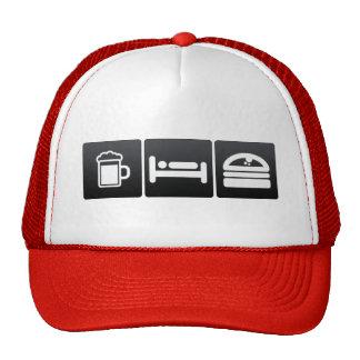 Drink, Sleep and Burger Buns Trucker Hat