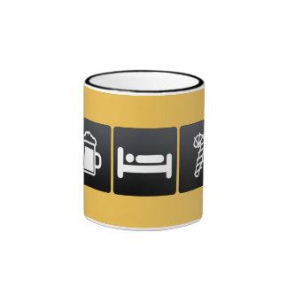 Drink, Sleep and Candy Canes Ringer Coffee Mug