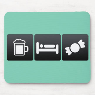 Drink, Sleep and Candy Stores Mouse Pad