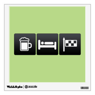 Drink, Sleep and Car Racing Room Graphics