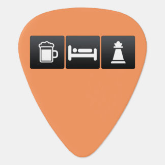 Drink, Sleep and Chess Clubs Guitar Pick