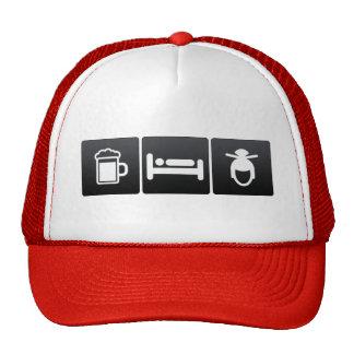Drink, Sleep and Chinese Hairdos Trucker Hat
