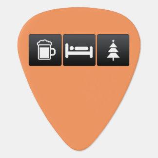 Drink, Sleep and Christmas Spirit Guitar Pick