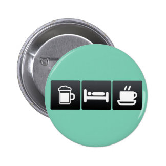 Drink, Sleep and Coffee Mugs 2 Inch Round Button
