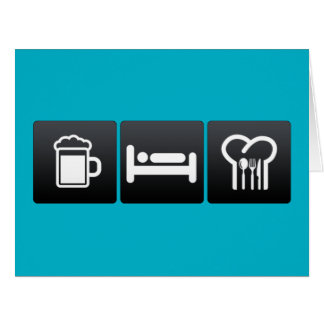 Drink, Sleep and Cooking Lessons Large Greeting Card