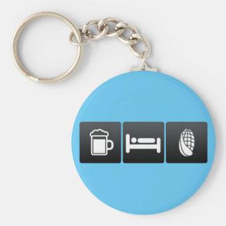 Drink, Sleep and Corn Basic Round Button Keychain