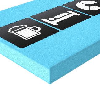 Drink, Sleep and Cutting a Cake Canvas Print